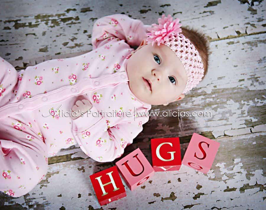 Baby first Valentine Photoshoot