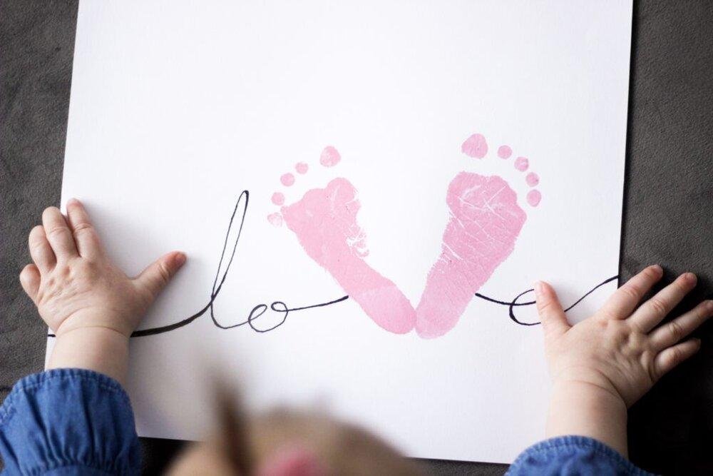 baby footprints diy