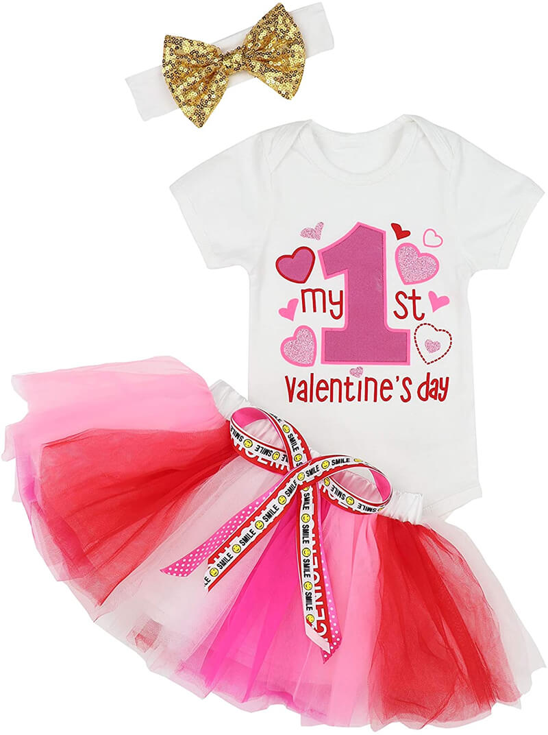 Baby First Valentine's Day Outfit