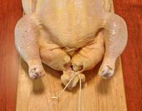 Trussing Chicken - Step 1