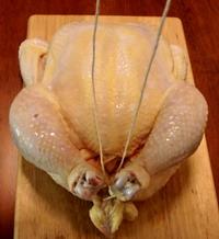 Trussing Chicken - Step 3